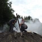 Remplissage de la cheminée