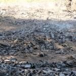 Le charbon doit encore refroidir un certain temps