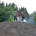 Ouvertur de la cheminée pour l'allumage